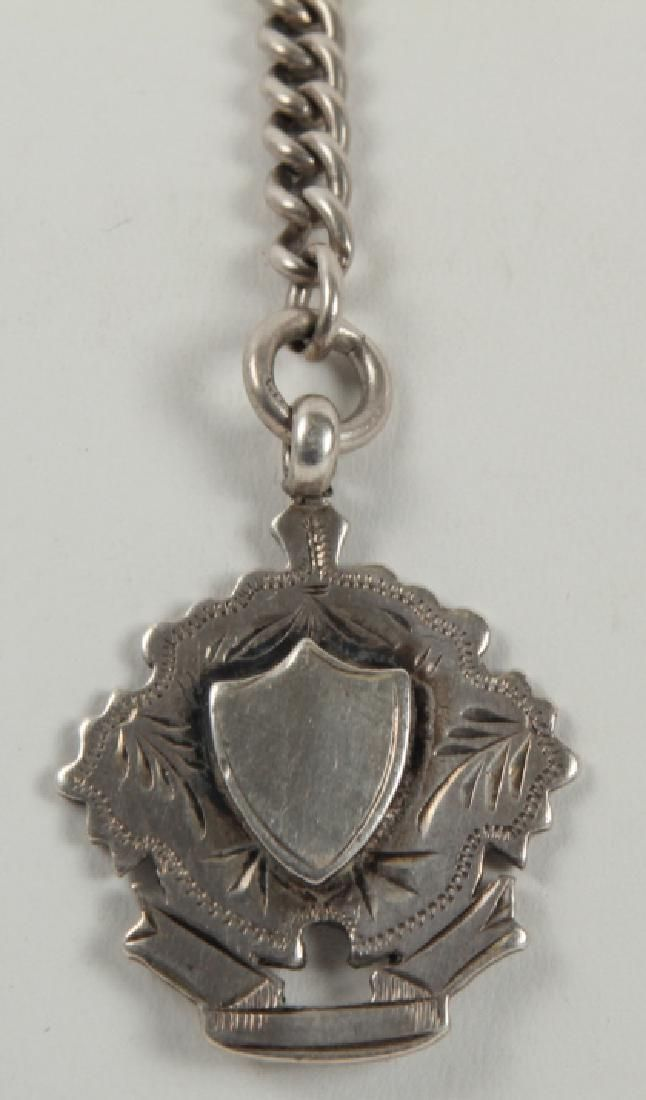 Antique English Sterling Silver Watch Fob Chain