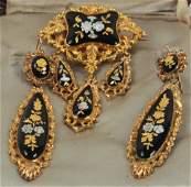 Antique 19th C J E Caldwell Gold  Silver Jewelry
