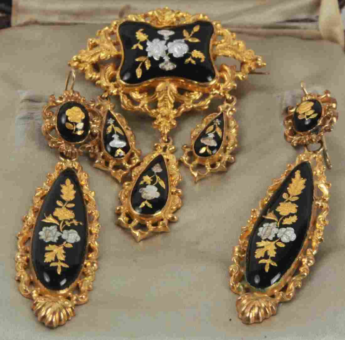 Antique 19th C J E Caldwell Gold & Silver Jewelry