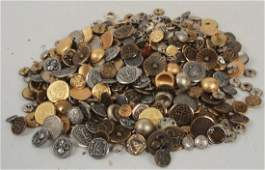 Collection of Vintage Clothing Metal Buttons