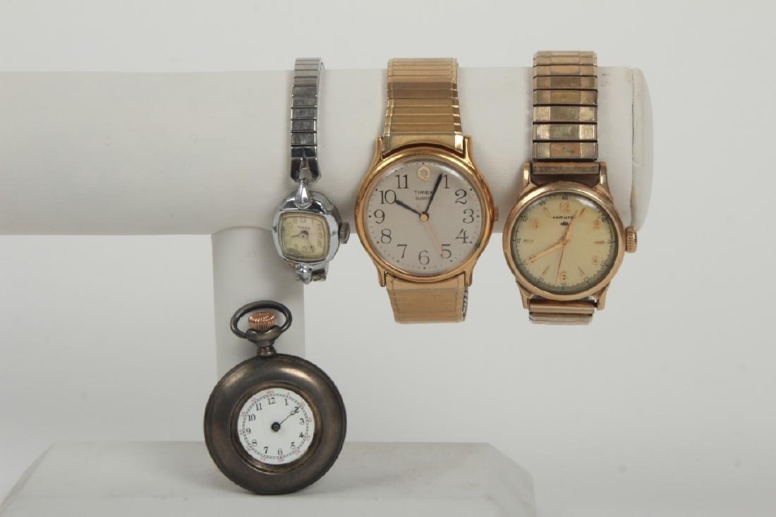 Antique Pocket Watch & Three Vintage Watches - 4
