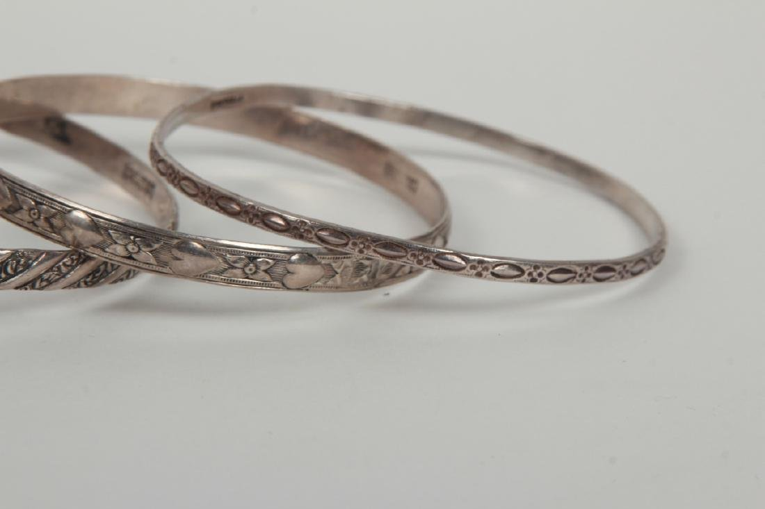 Collection Sterling Silver Bangle & Cuff Bracelets - 4