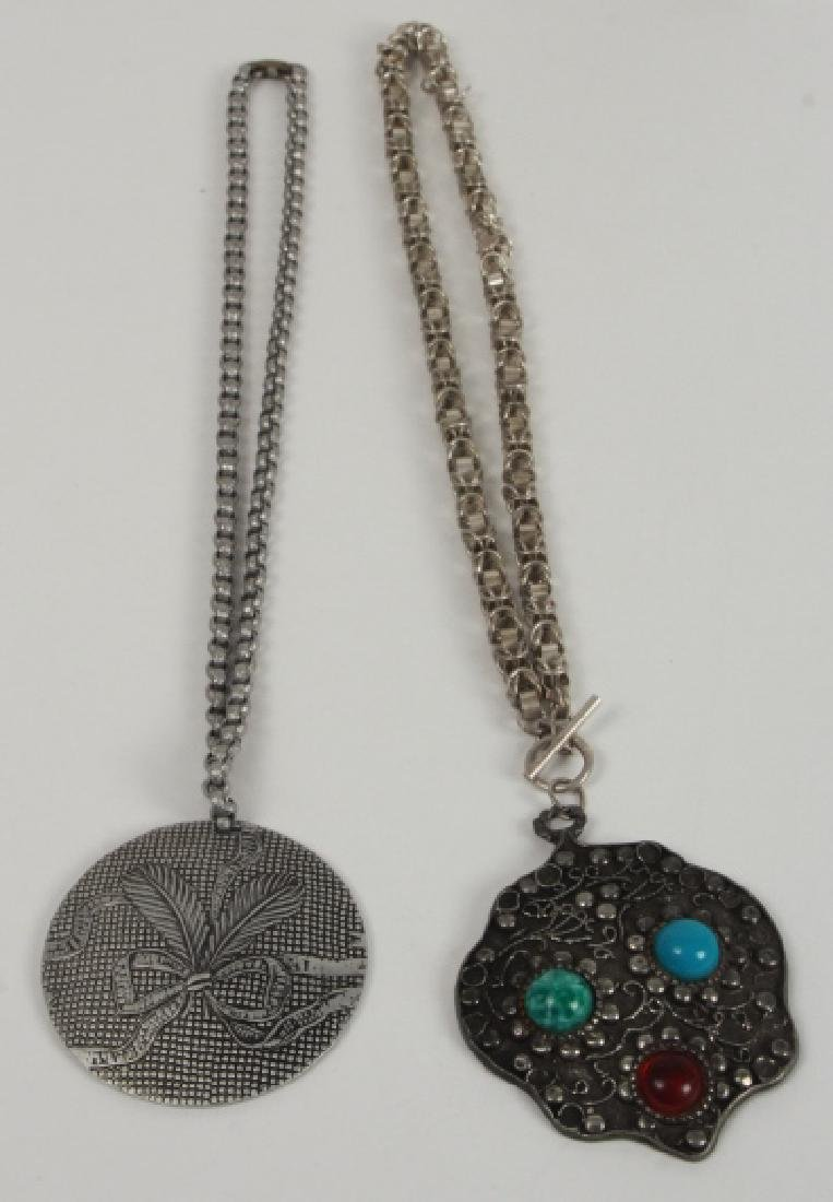 Two Vintage Costume Jewelry Necklaces w Pendants