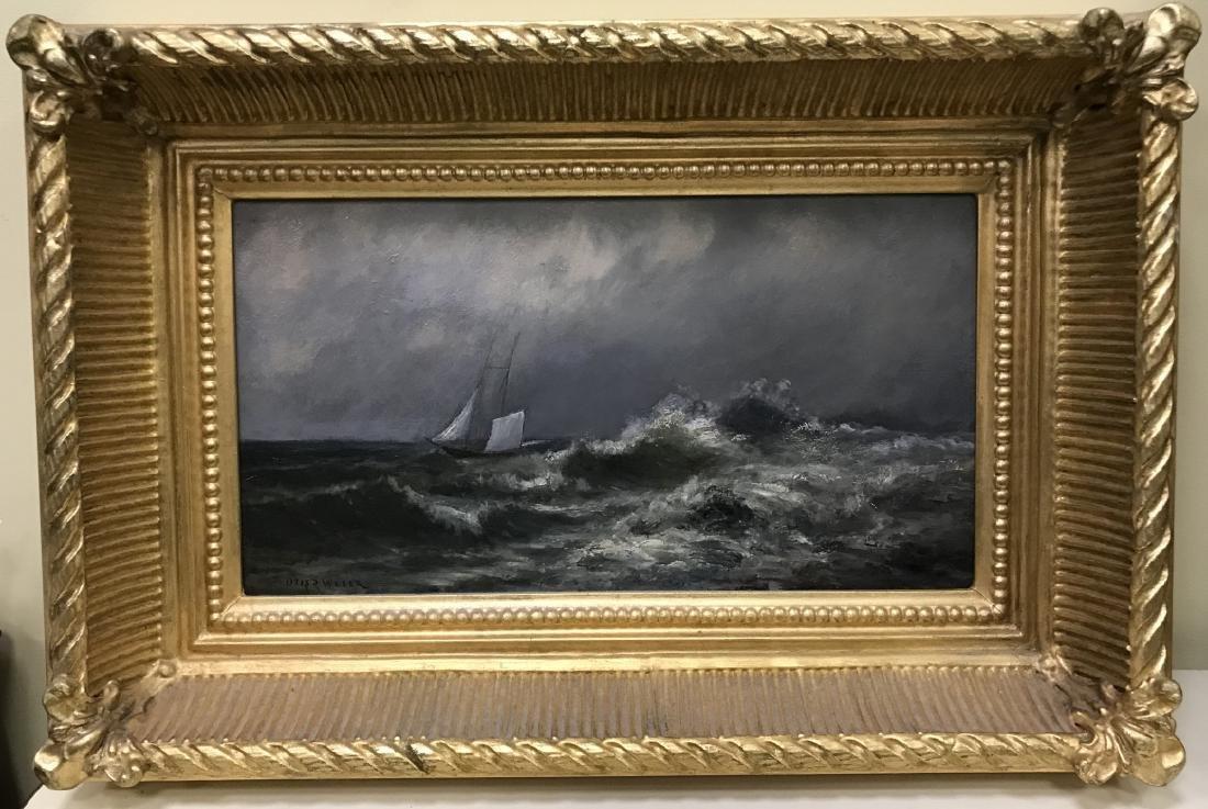 Otis Weber Oil Painting on Canvas Marine Painting