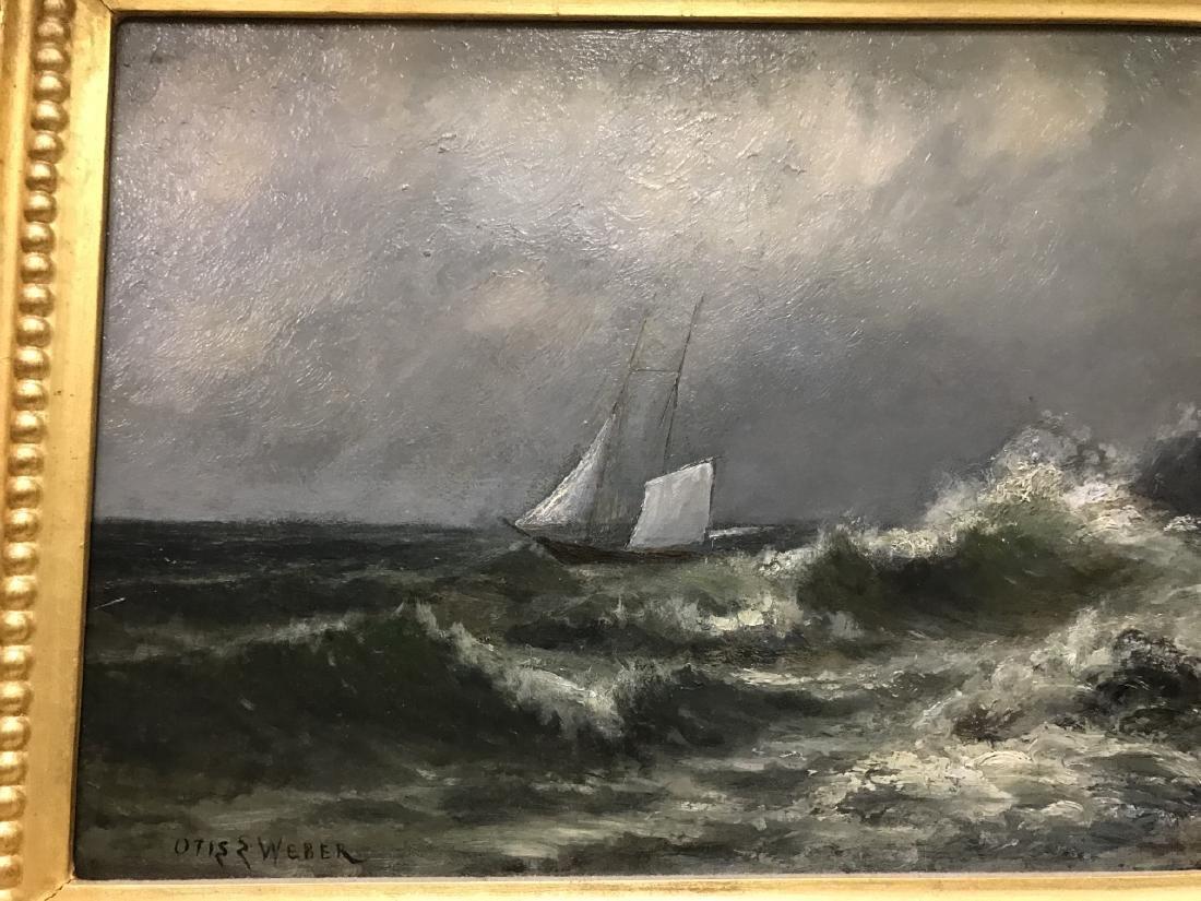 Otis Weber Oil Painting on Canvas Marine Painting - 2
