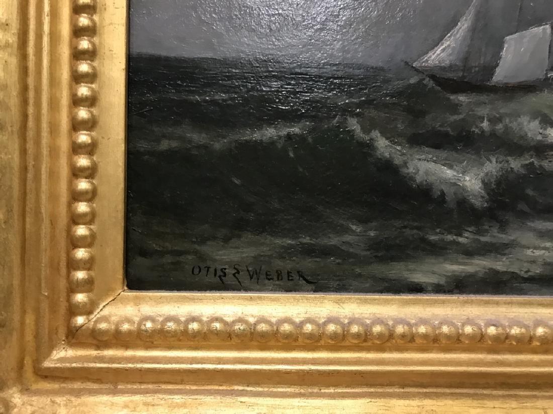 Otis Weber Oil Painting on Canvas Marine Painting - 3