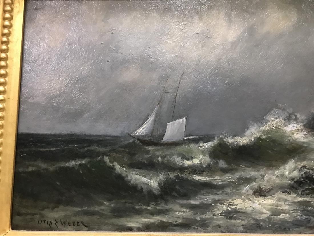 Otis Weber Oil Painting on Canvas Marine Painting - 4