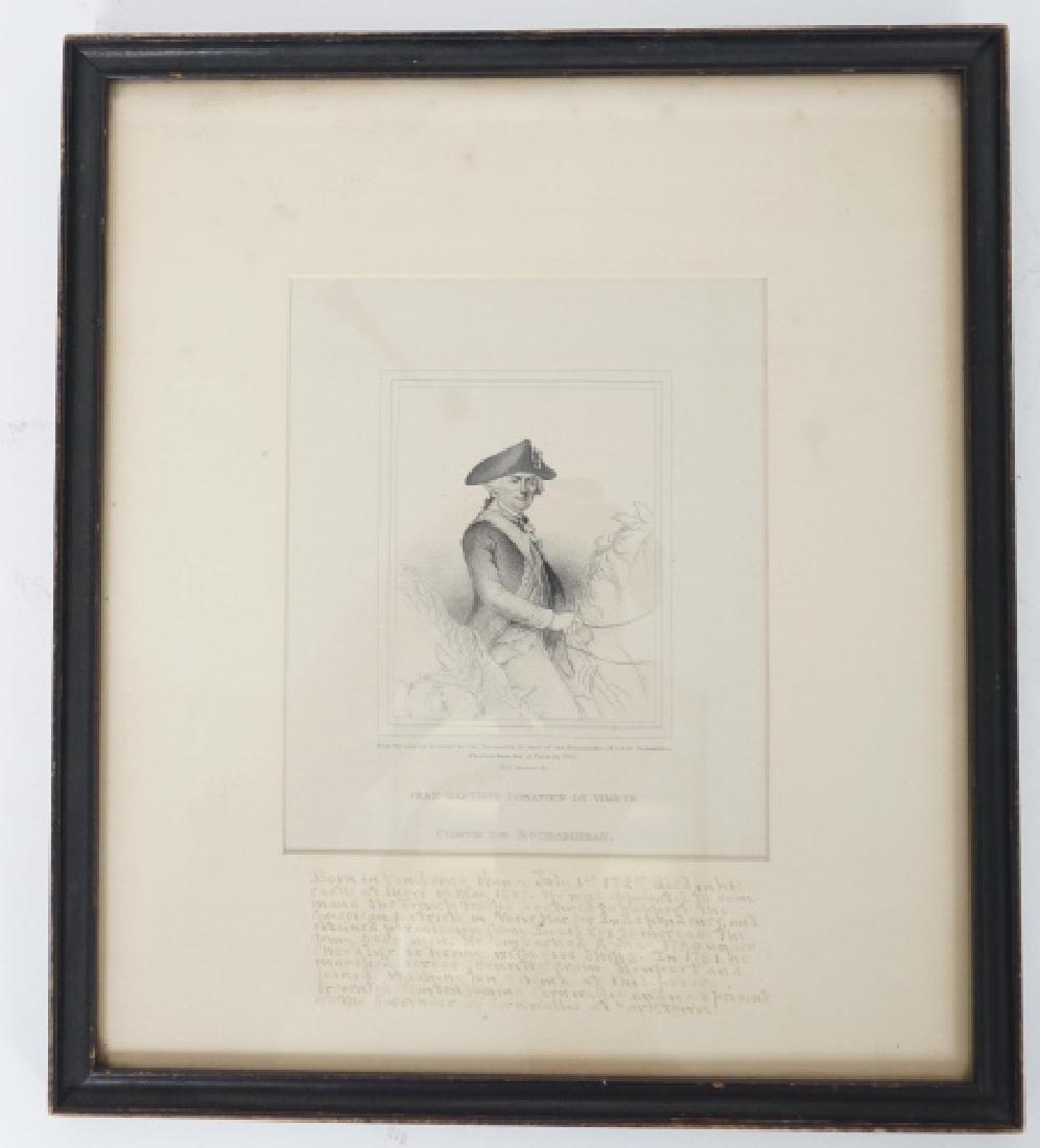 Antique Framed Engraving of Count Jean Baptiste