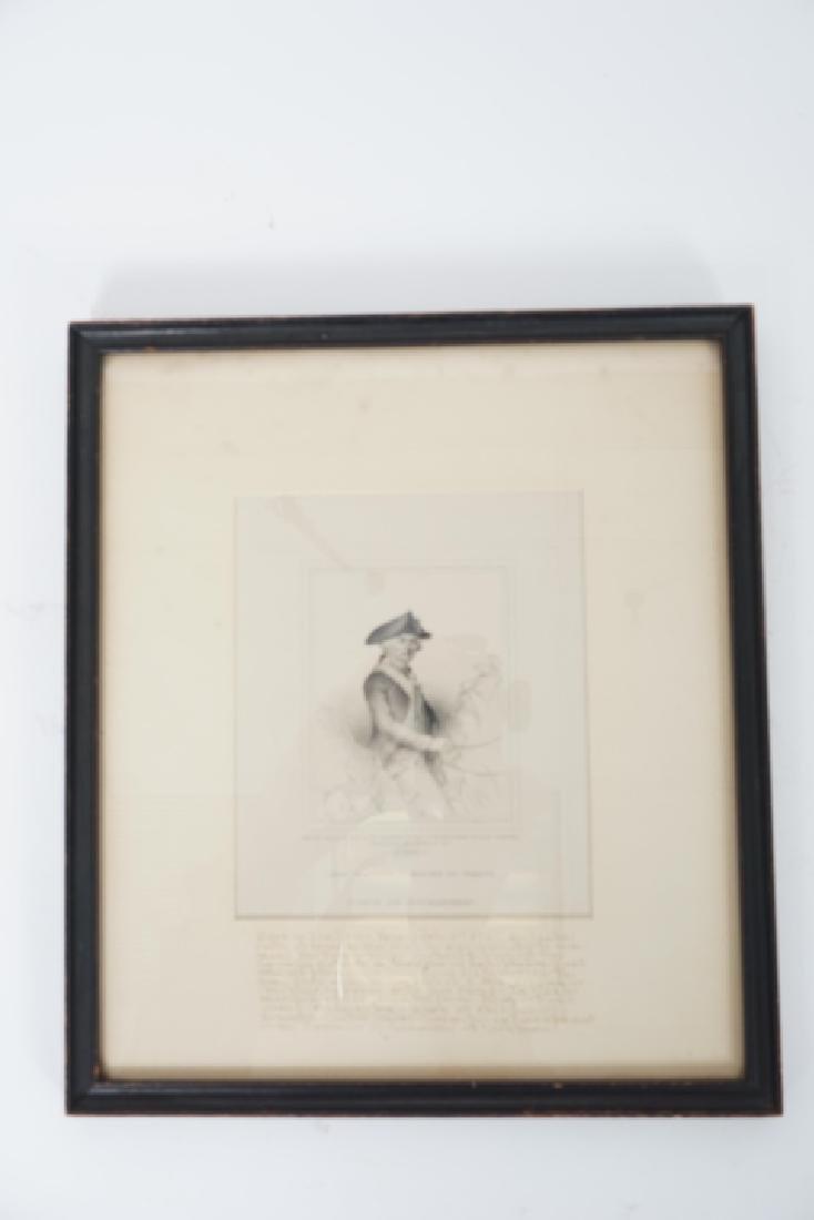 Antique Framed Engraving of Count Jean Baptiste - 2
