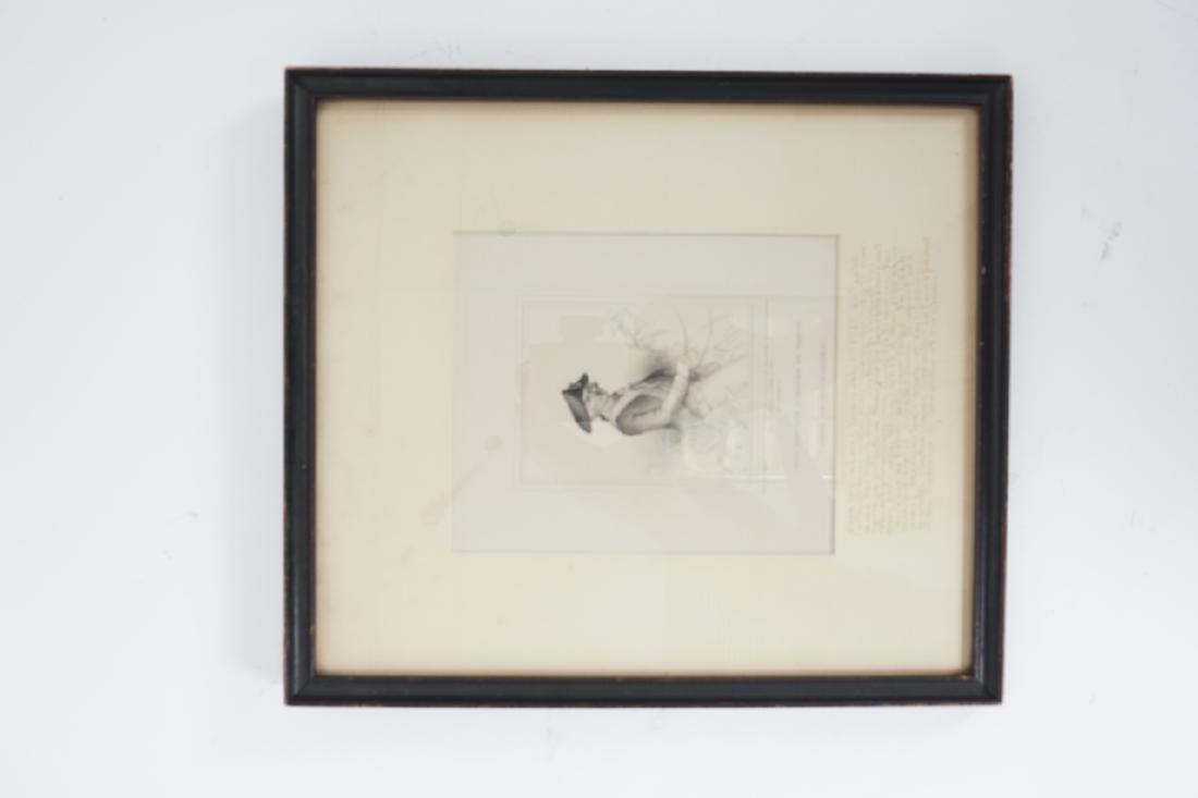 Antique Framed Engraving of Count Jean Baptiste - 3