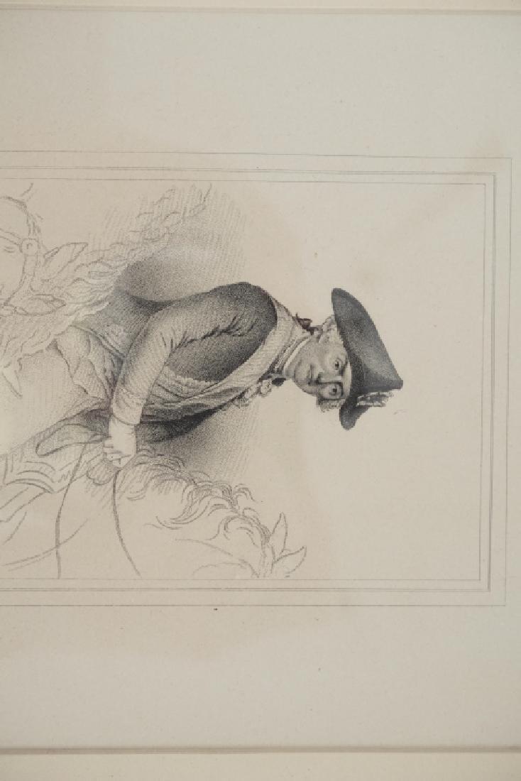 Antique Framed Engraving of Count Jean Baptiste - 4