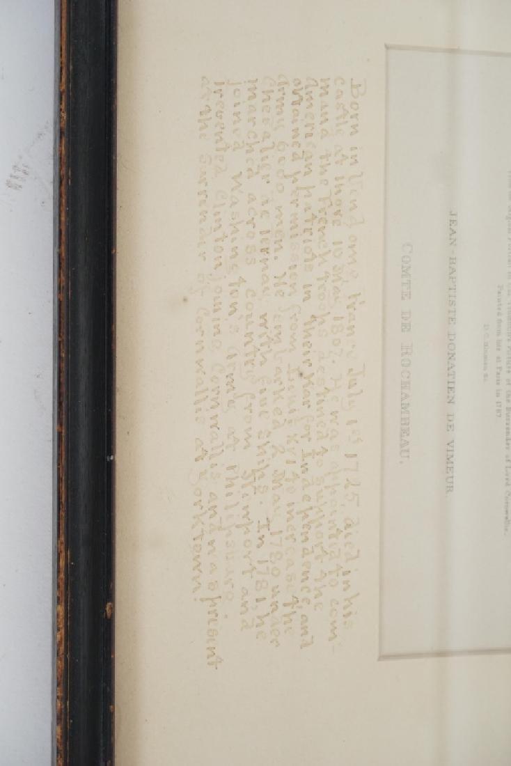 Antique Framed Engraving of Count Jean Baptiste - 6