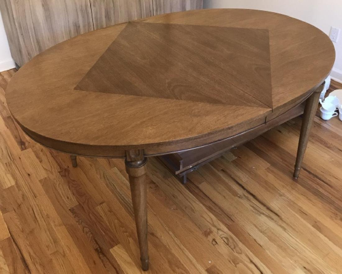 Mid Century French Country Dining Table w Leaves
