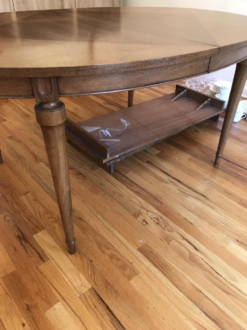Mid Century French Country Dining Table w Leaves - 2