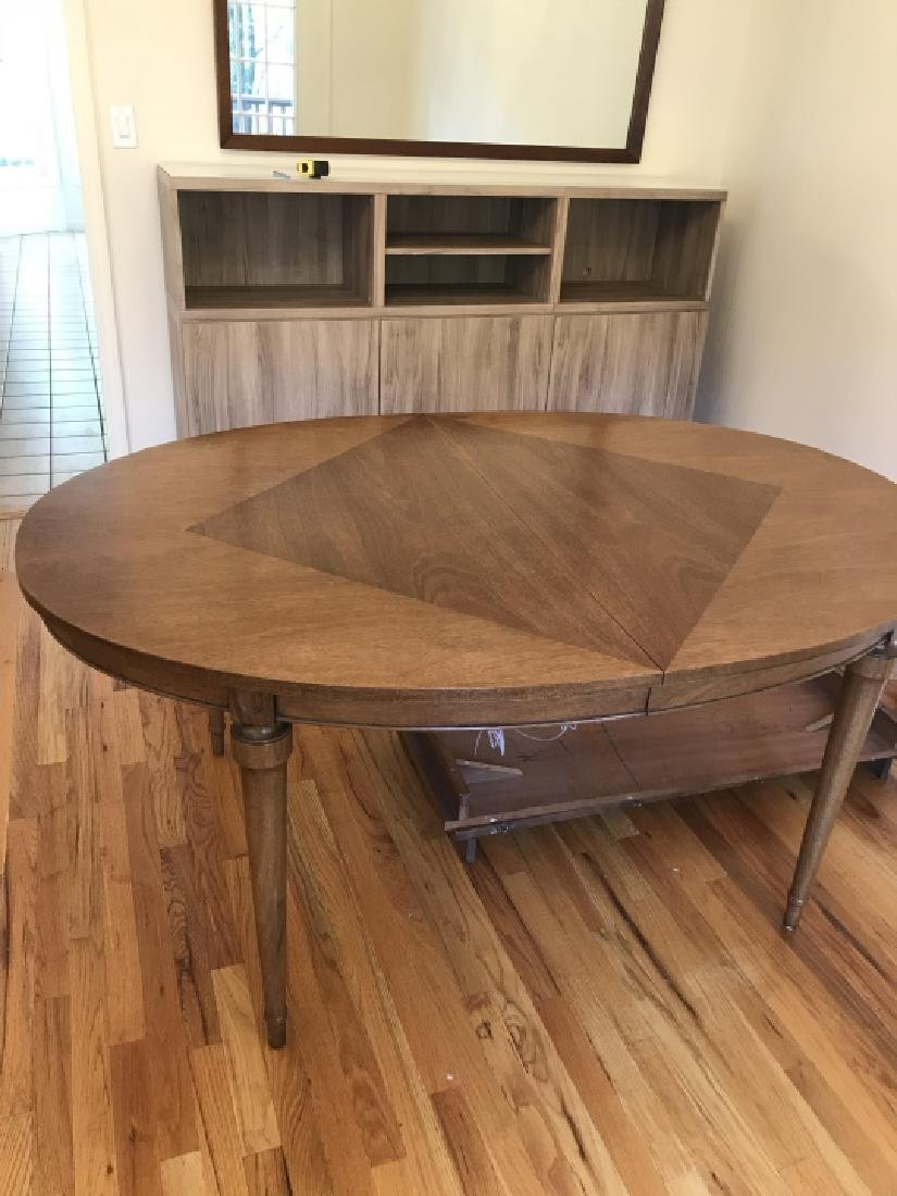 Mid Century French Country Dining Table w Leaves - 3