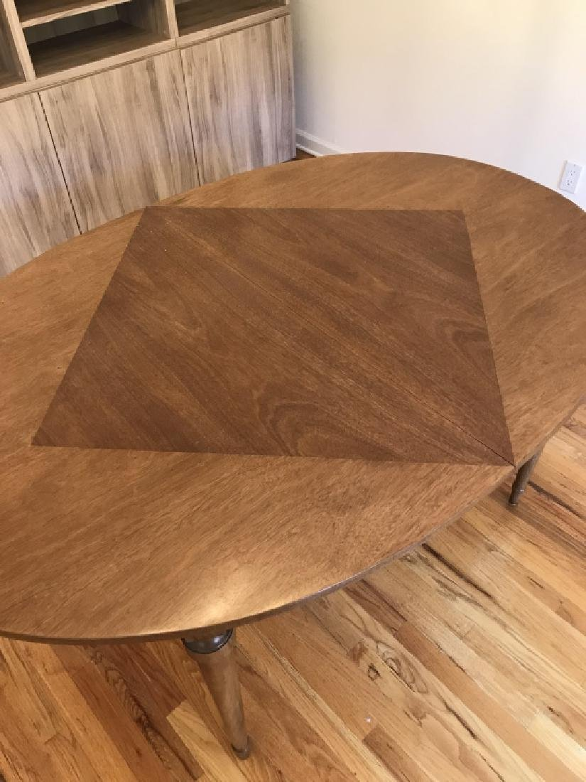 Mid Century French Country Dining Table w Leaves - 4