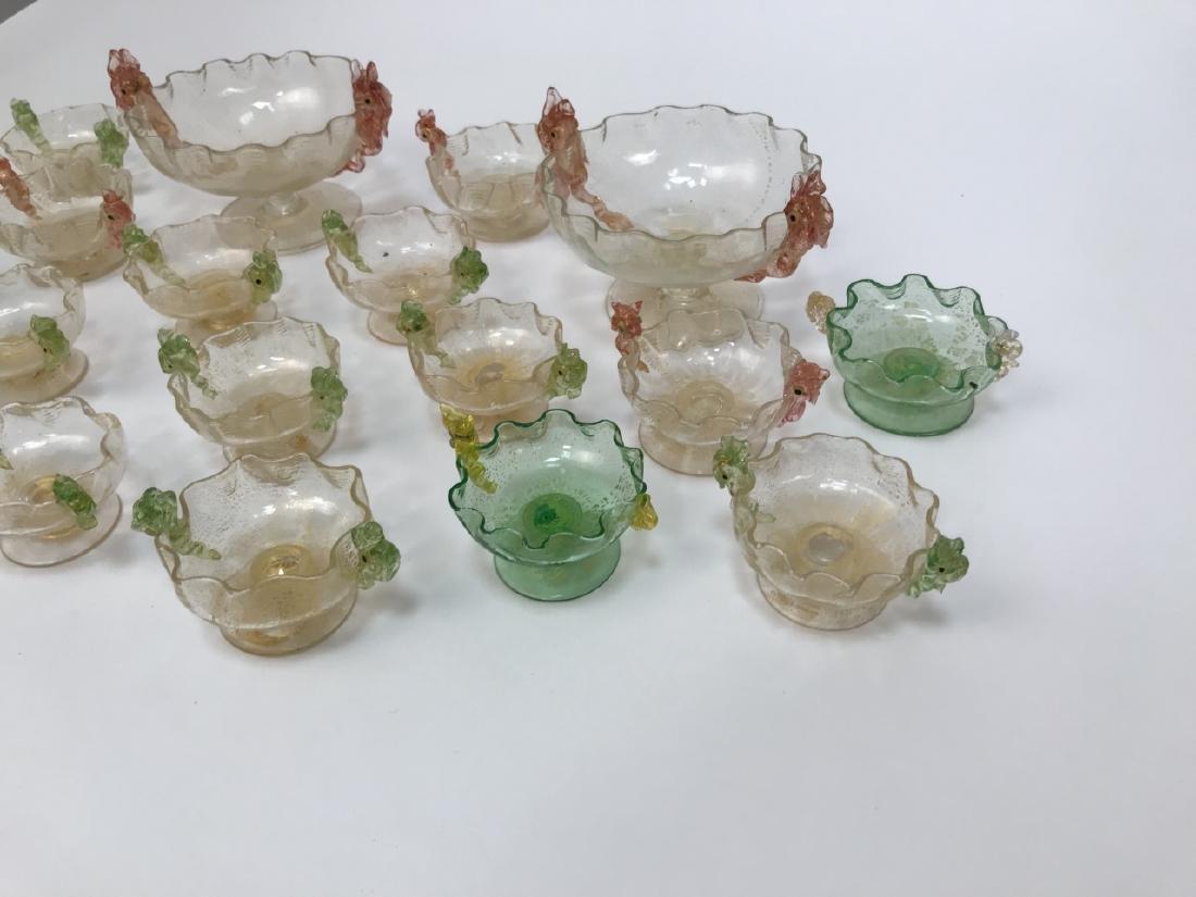 17 Piece Art Glass Caviar / Compote Service - 5