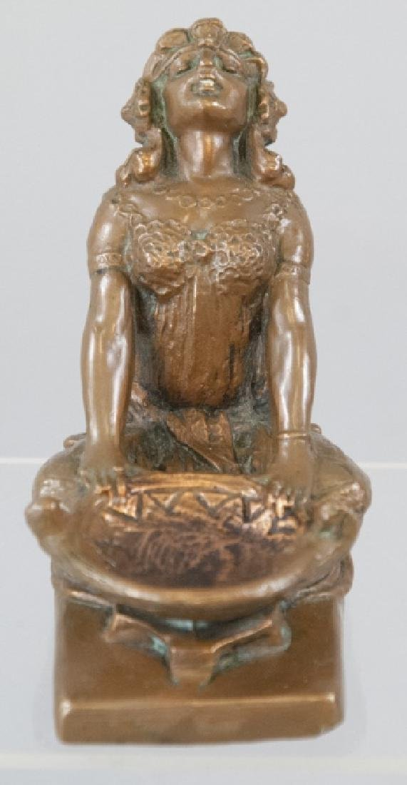 Antique Art Deco Bronze Statue of a Gypsy Woman