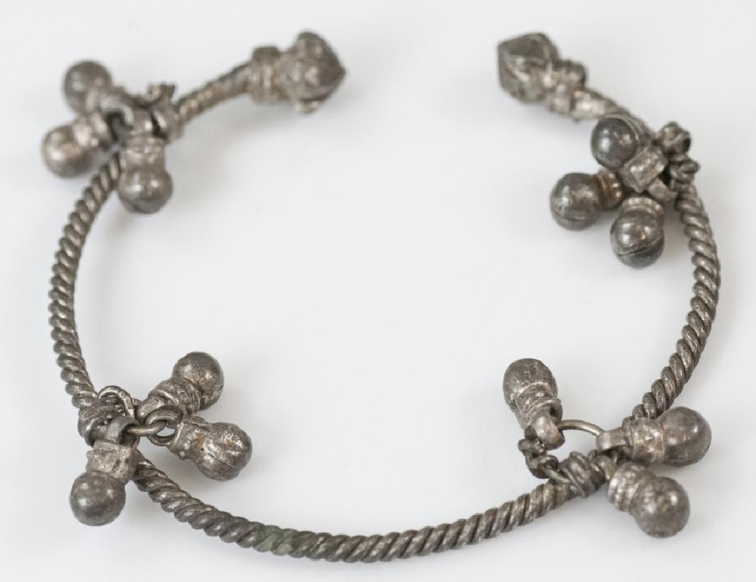 Estate Cuff Bracelet w Bell Charm Clusters