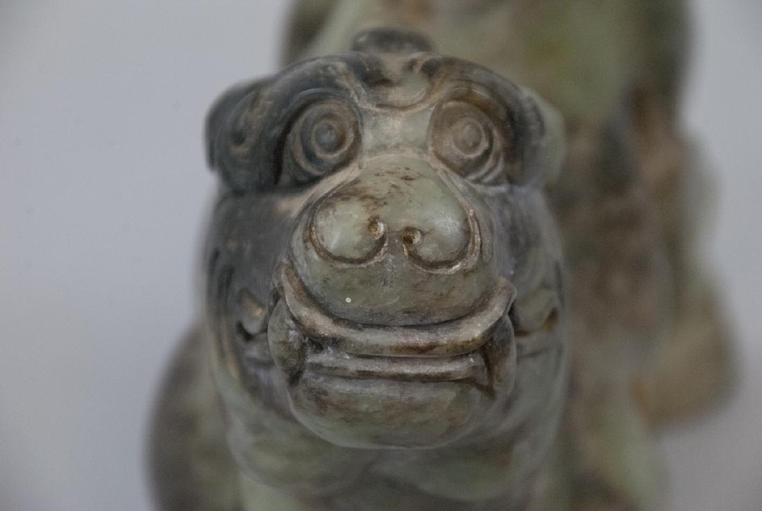 Chinese Hand Carved Jade Mythological Statue - 4