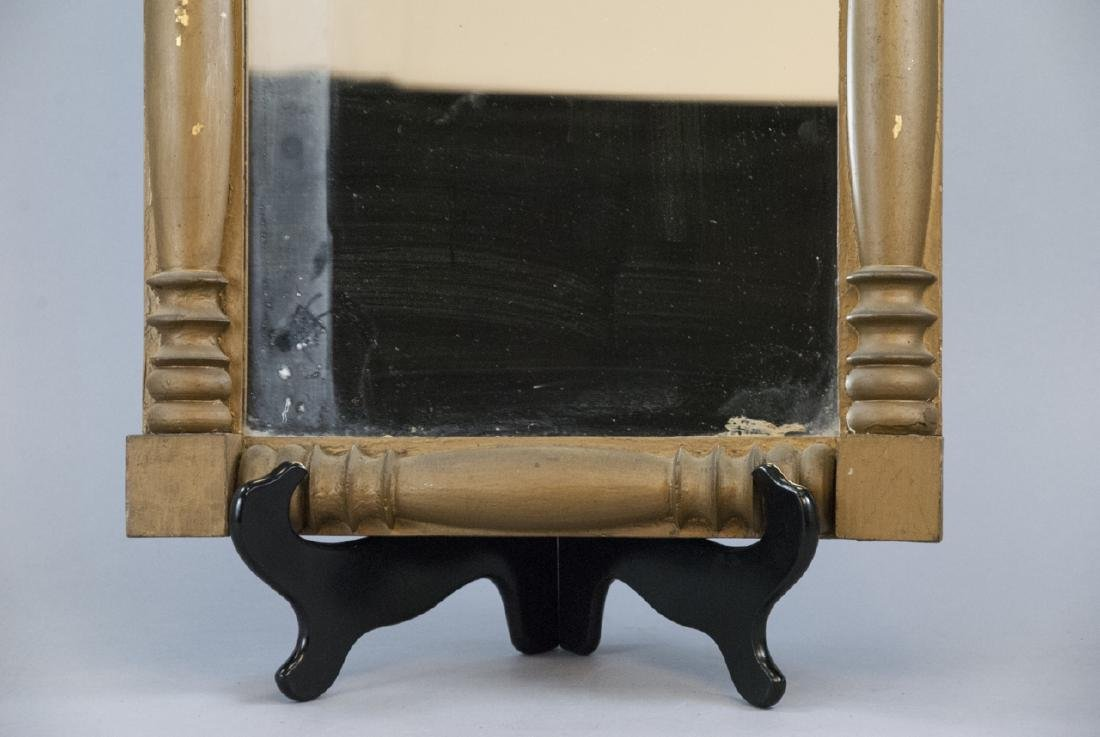 Vintage Hand Carved Wood Mirror With Grape Leaves - 6