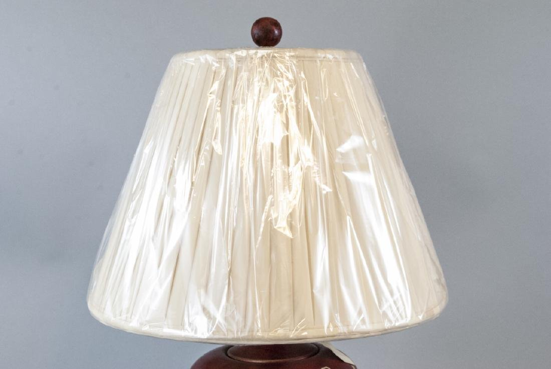 Ginger Jar Form Table Lamp W Hand Painted Motif - 5