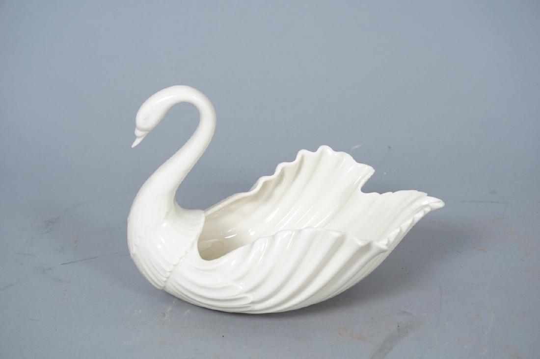 2 Lenox Porcelain Swan Form Candy Dish &  Ash Tray - 7