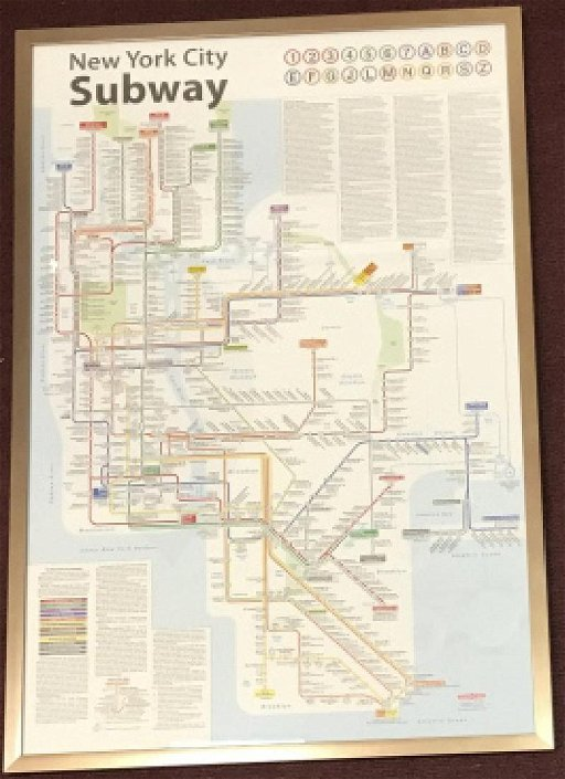 Framed New York Subway Map.Framed New York City Subway Map Print