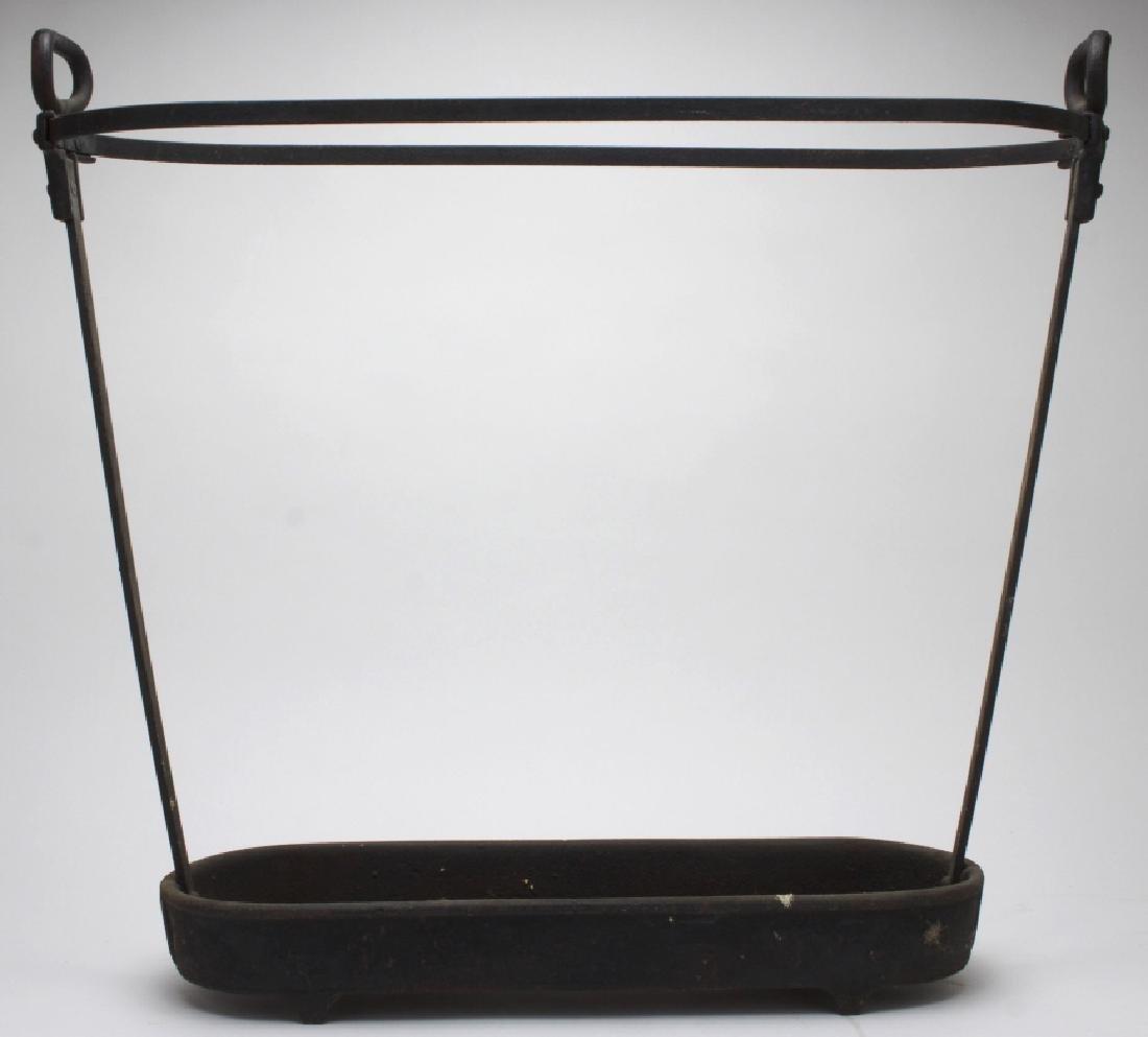 Antique Wrought Iron Handled Umbrella Stand