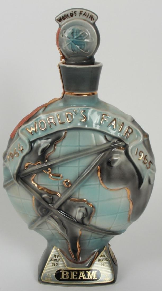 1965 Worlds Fair Porcelain Beam Whiskey Bottle