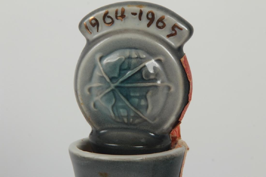 1965 Worlds Fair Porcelain Beam Whiskey Bottle - 6