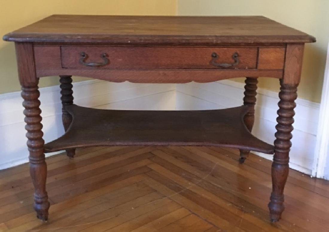 William & Mary Style Carved Wood Occasional Table