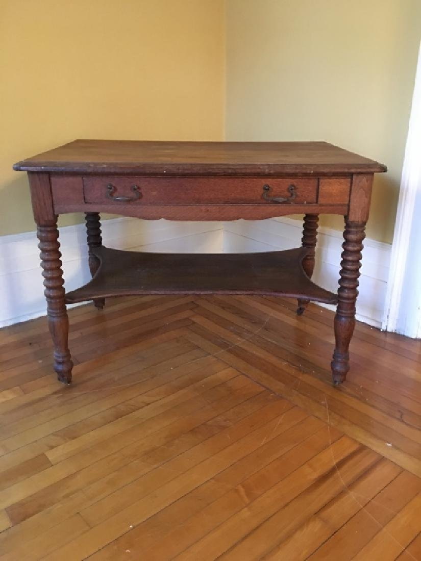 William & Mary Style Carved Wood Occasional Table - 2