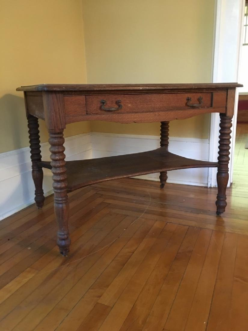 William & Mary Style Carved Wood Occasional Table - 3