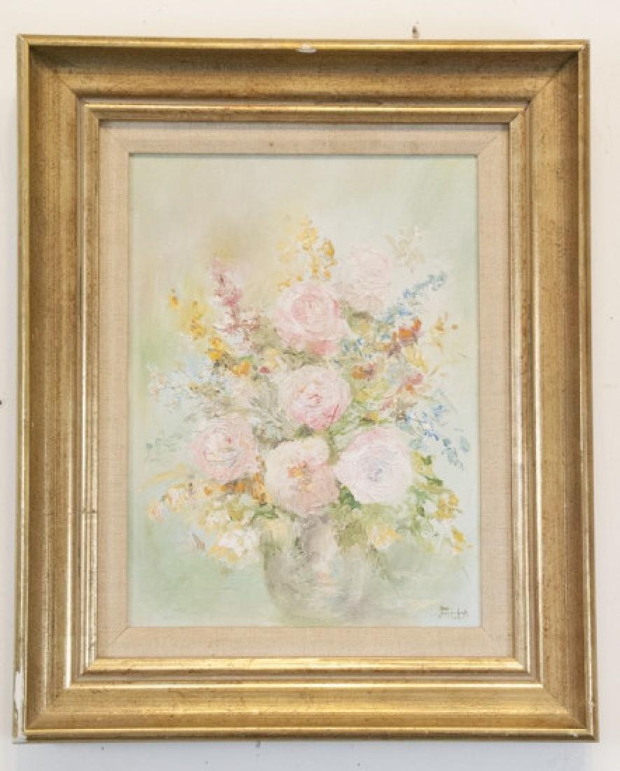 Original Signed Oil on Canvas Still Life Painting