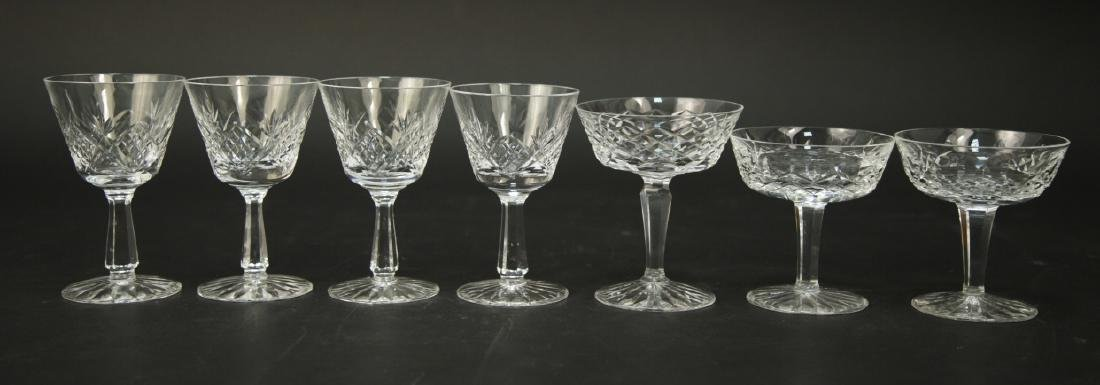 4 Waterford Crystal Wine Glasses, 3 Champagne