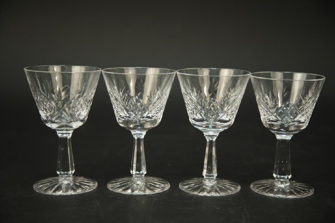 4 Waterford Crystal Wine Glasses, 3 Champagne - 3