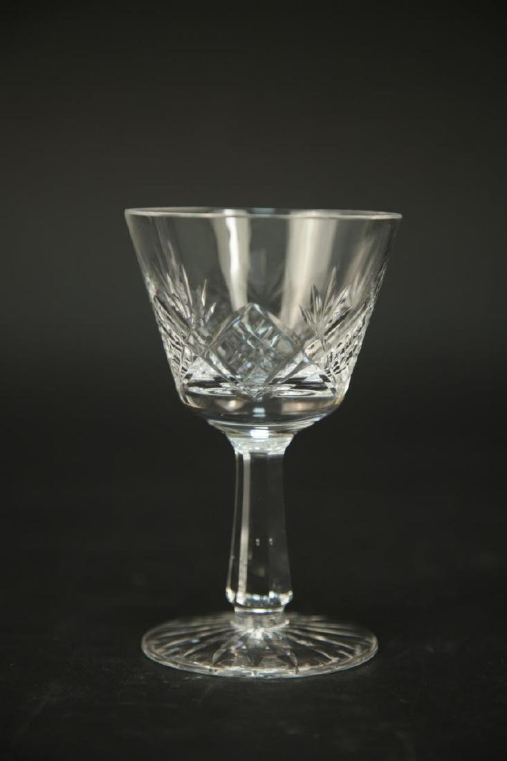 4 Waterford Crystal Wine Glasses, 3 Champagne - 4