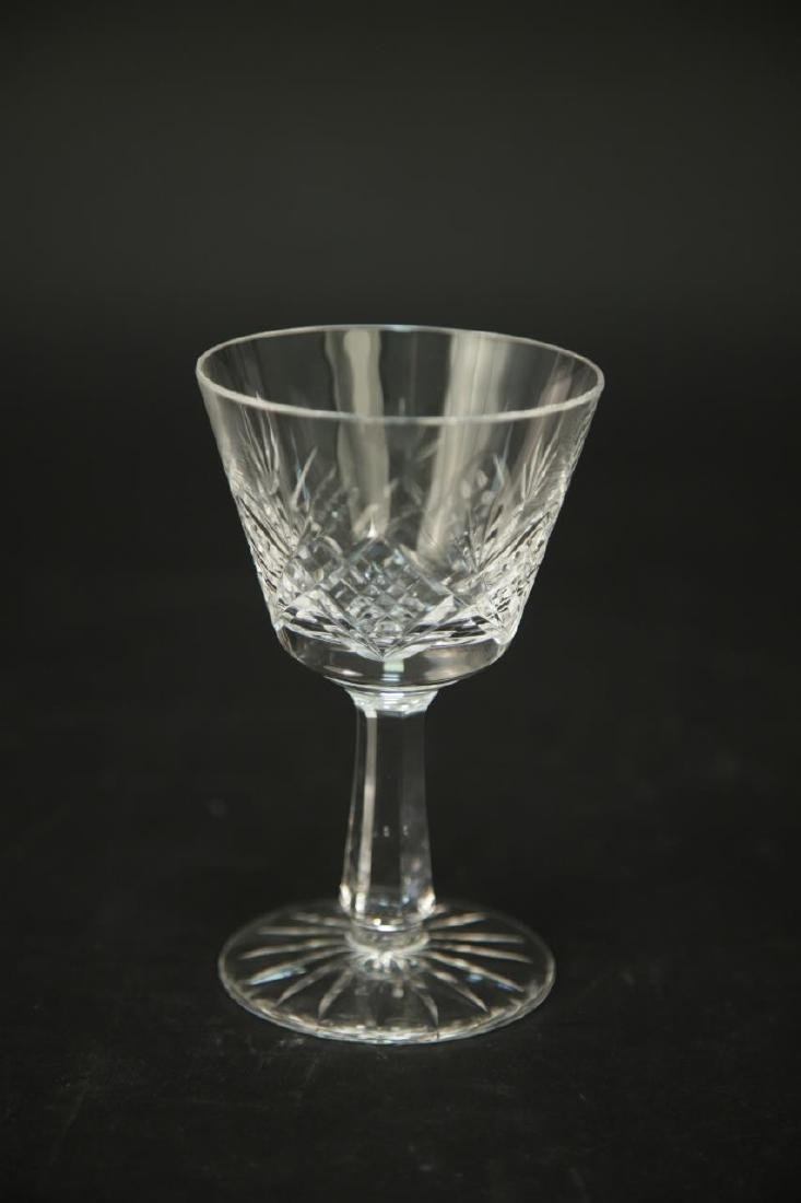 4 Waterford Crystal Wine Glasses, 3 Champagne - 5
