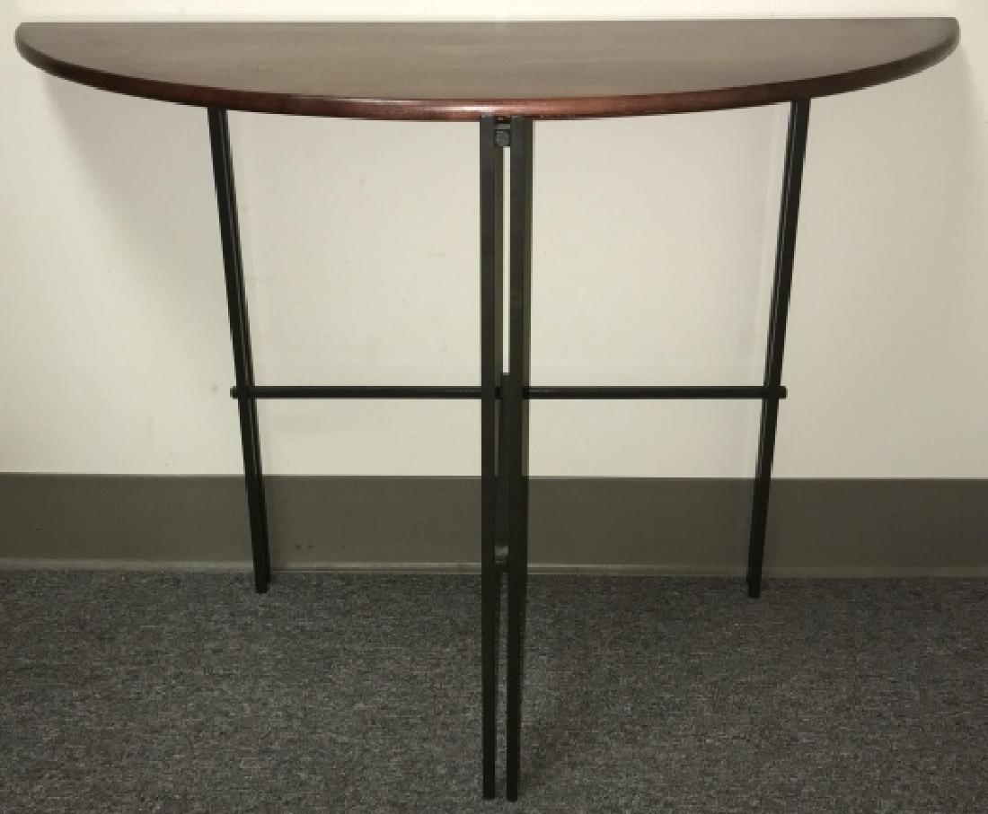 Designer Mission Style Demilune Console Table