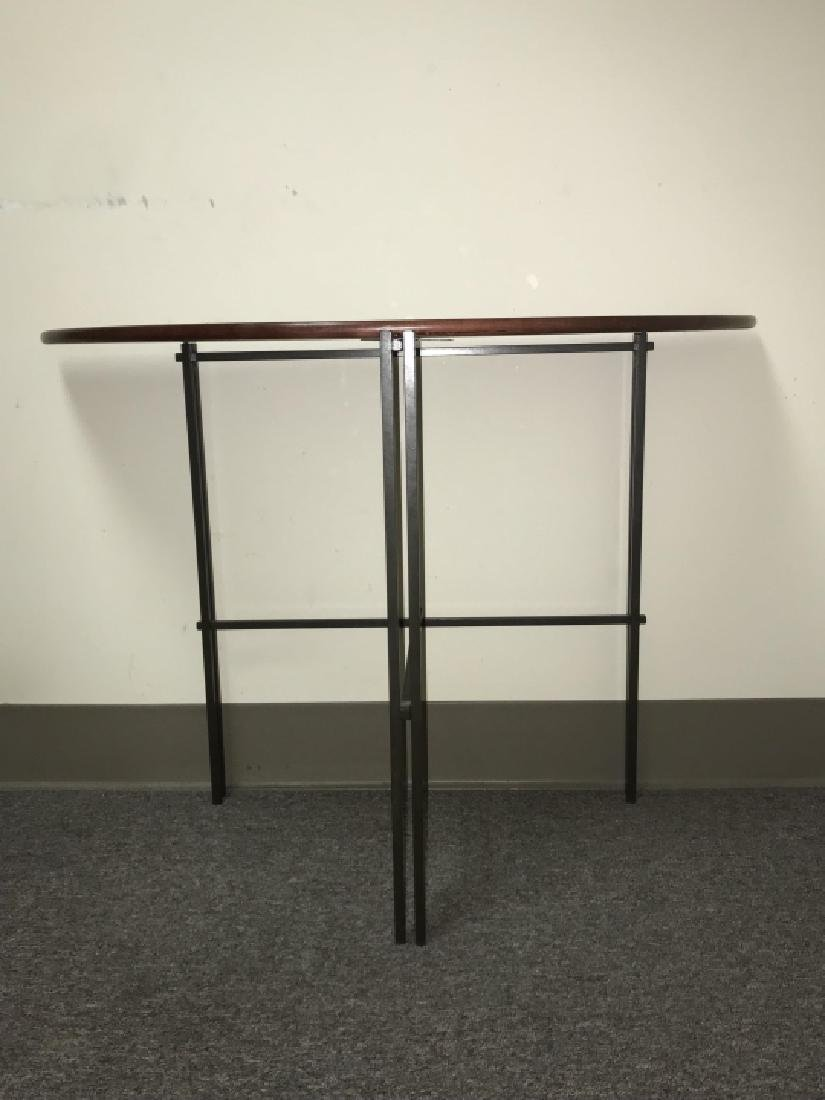 Designer Mission Style Demilune Console Table - 4