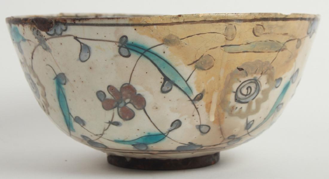 Antique Persian Islamic Glazed Pottery Bowl