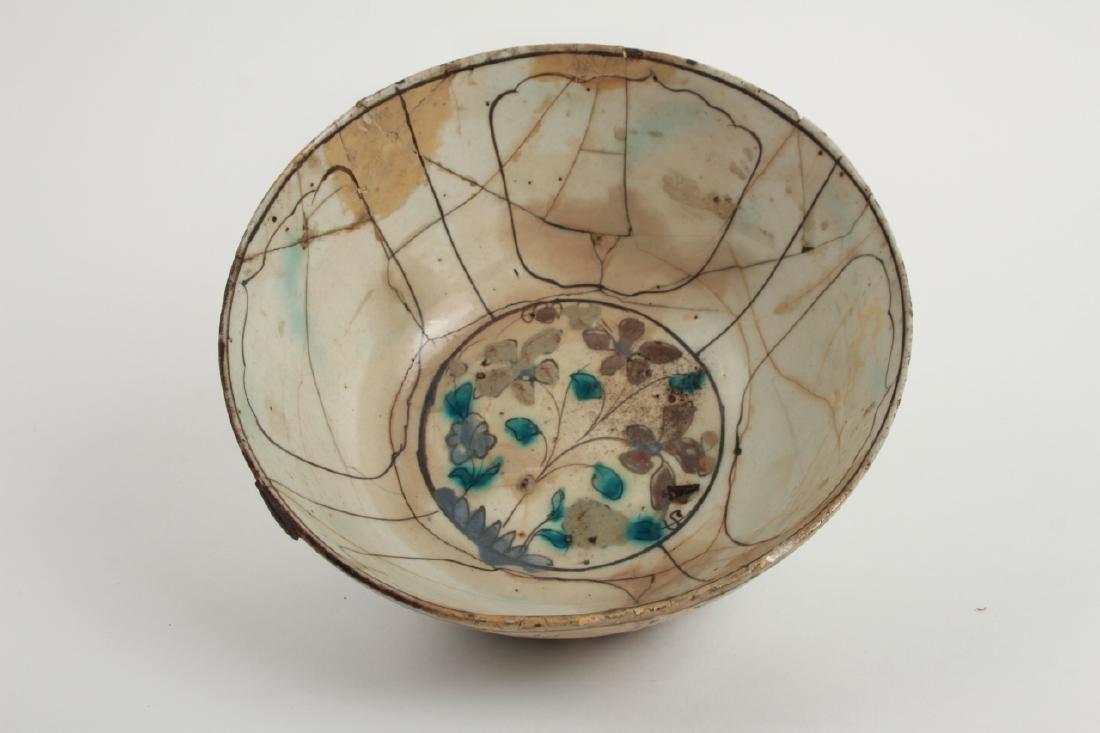 Antique Persian Islamic Glazed Pottery Bowl - 3