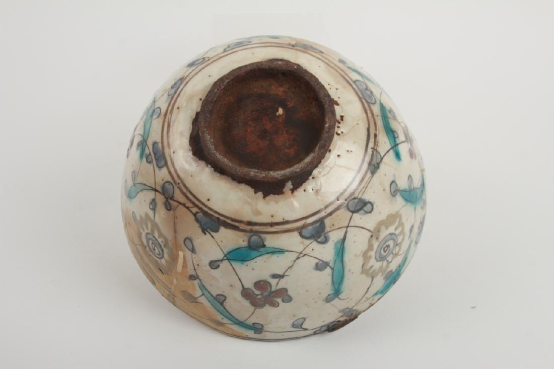 Antique Persian Islamic Glazed Pottery Bowl - 4