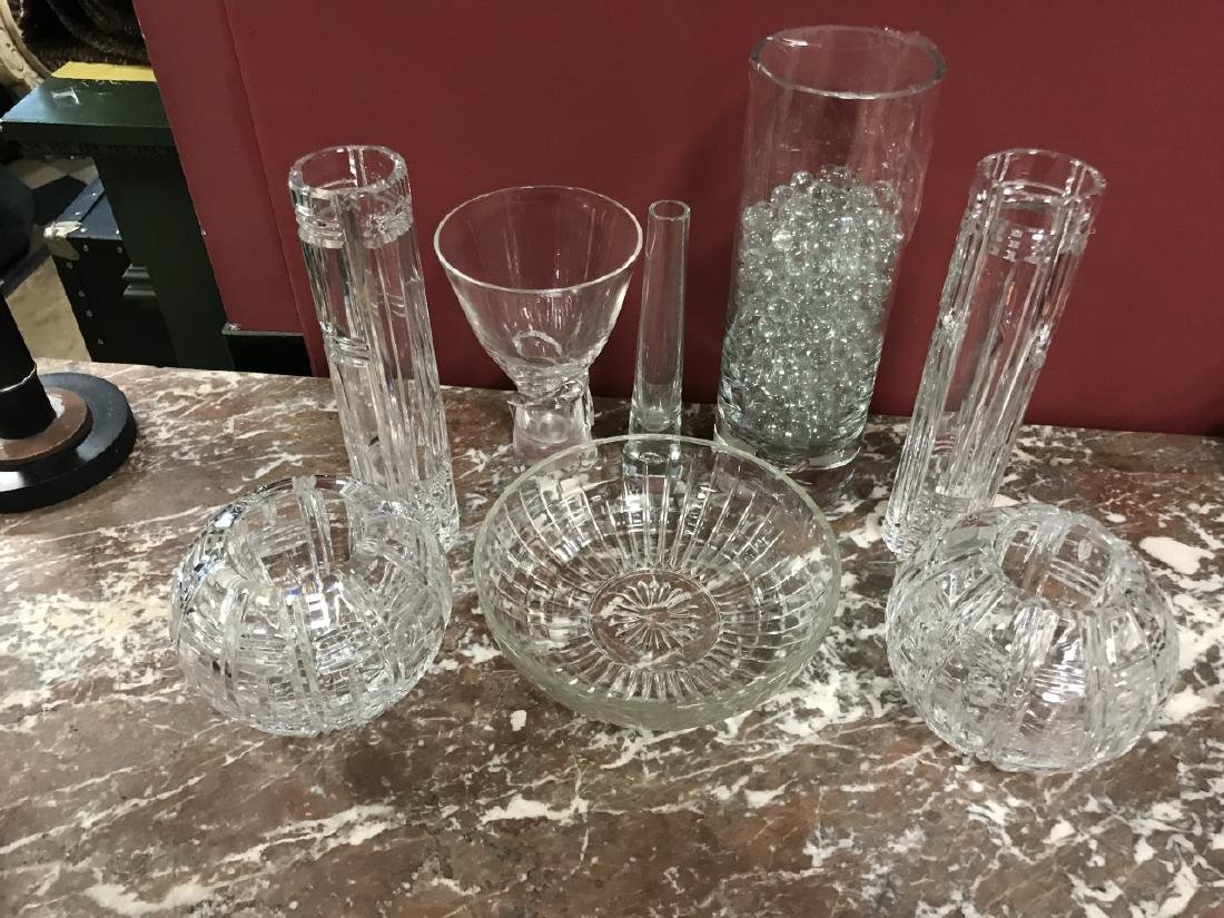 Glass & Crystal Decorative Objects Incl. Steuben - 3
