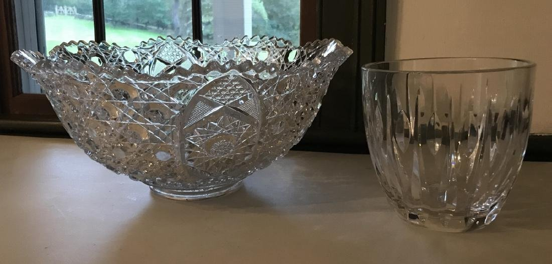 Waterford Irish Crystal Vase & Glass Center Piece