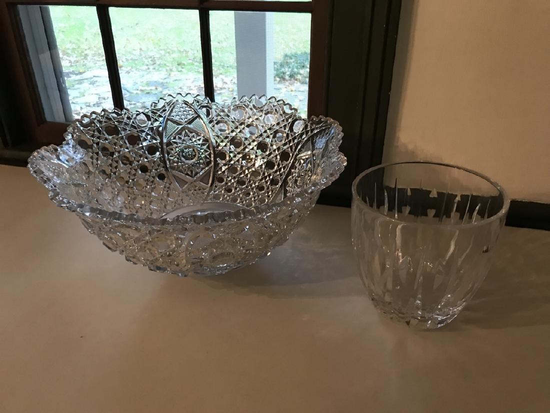 Waterford Irish Crystal Vase & Glass Center Piece - 3