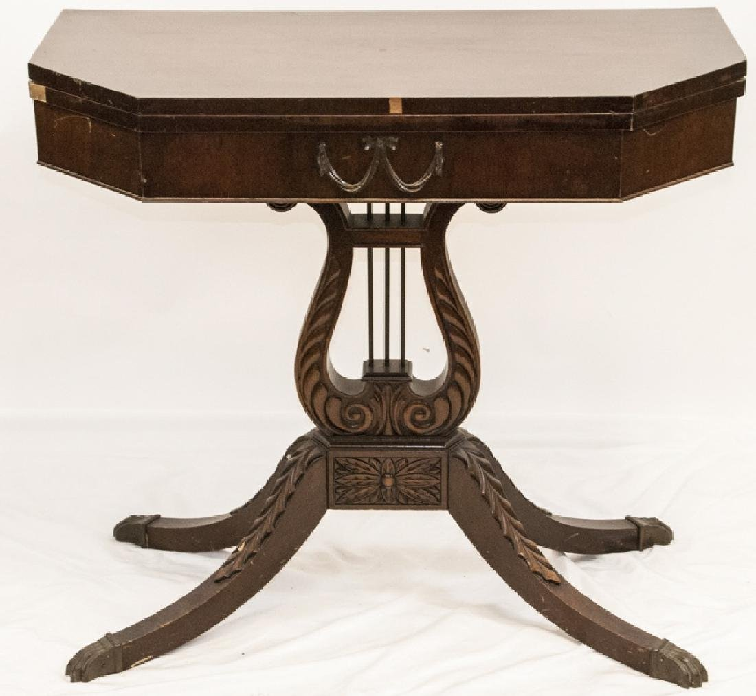 Neoclassical Style Turn Top Console Table