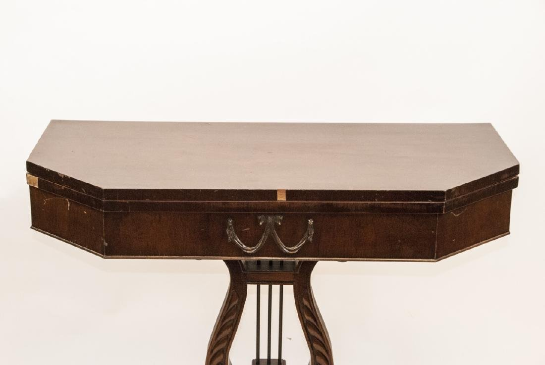 Neoclassical Style Turn Top Console Table - 4