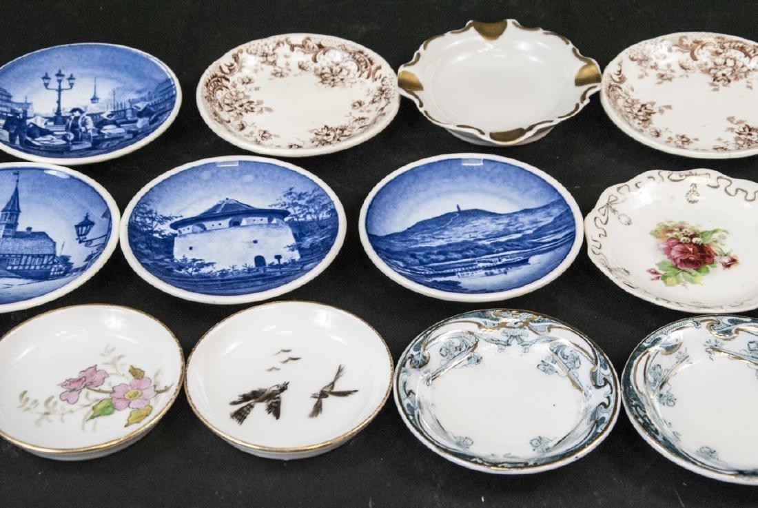 Lot Antique Miniature Porcelain Condiment Dishes - 3